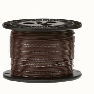 22 Awg Gauge Stranded Hook Up Wire Brown 1000 Ft 0 0253 Ptfe 600 Volts