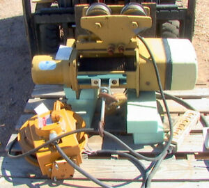 Eaton Yale 1 Ton Cable Winch Hoist With Trolley And Cord Reel 208 Vac Powered