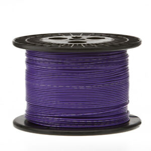 22 Awg Gauge Stranded Hook Up Wire Violet 1000 Ft 0 0253 Ptfe 600 Volts