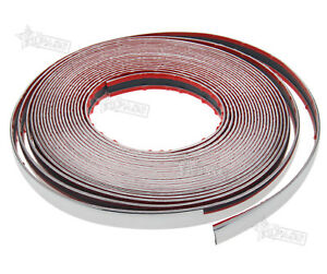New 20mm X 15m Chrome Styling Moulding Trim Strip For Cars Vans Vehicles 49ft