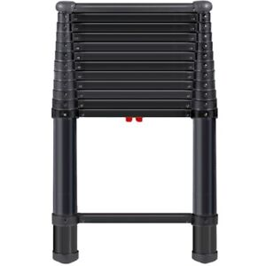 Telesteps 1600et 12 5 Ft Type 1a Black Telescoping Ladder 300 Pounds