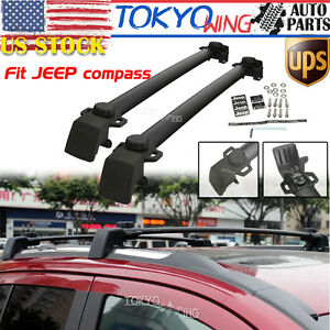 Roof Rack Cross Bars Crossbars Oe Style Cargo Carrier For 2011 2016 Jeep Compass