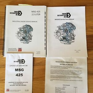 Ford Msg 425 Lpg Gas Ng Engine Service Operator Manual Industrial Maintenance