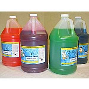 4 Gallons Sno Snow Cone Shaved Ice Premium Ready To Use Syrup W Reusable Pumps