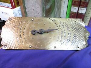 Purina Cow Chow Scale Brass Face Milk Feed General Store Hardware Antique Farm