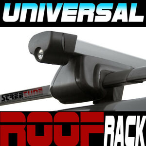 Universal Silver 49 Square Roof Rack Cross Bars W Lock Car Wagon Suv Carrier S2