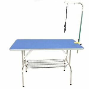 Comz Stl901 blue Durable Heavy Duty Dog Pet Grooming Table With Arm And Noose