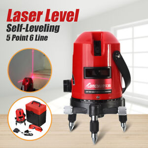 360 Degree 5 Line 6 Point Green Rotary Self Leveling Laser Level Cross Measure
