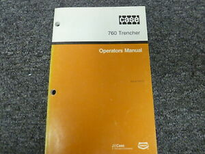 Case 760 Trencher Owner Operator Maintenance Manual Book Bur 9 11213