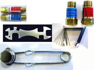 Oxy acetylene Access Kit Striker Jet Cleaner Fb Arrestors Ck Valves Wrench