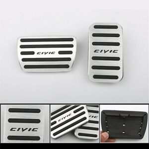 Set 10th Pedals Covers Automatic Car Parts For Honda Civic Hatchback Sedan Coupe