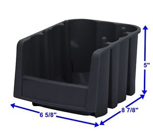 10 Pc Plastic Storage Parts Stackable Stacking Nest Bins 8 7 8 l X 5 h X 6 5 8 w