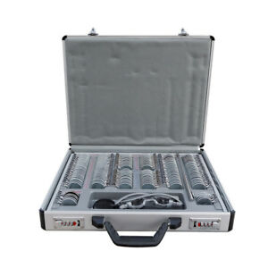 158pcs Optometric Trial Lens Set Leather Case Plus Metal Frame Optometry