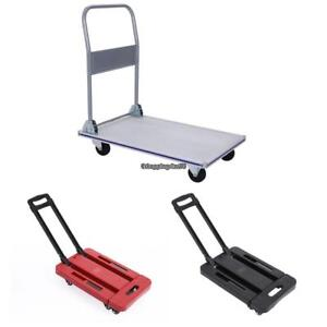 350kg Platform Cart Dolly Folding Foldable Moving Warehouse Push Hand Truck New