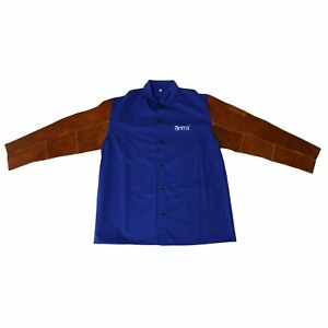 Antra flame Resistant Cotton Welding Jacket With Split Cowhide Sleeves