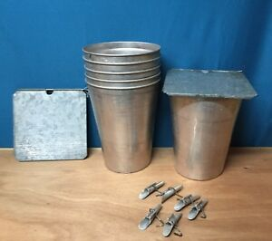4 Maple Syrup Aluminum Sap Buckets 4 Lids Covers 4 Taps Spiles Spouts L K