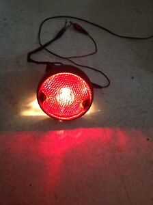 Vintage Red Glass Brake Light
