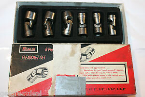 Snap on Tools 3 8 Drive Universal Shallow 6 point Socket Set 6pc 7 16 3 4