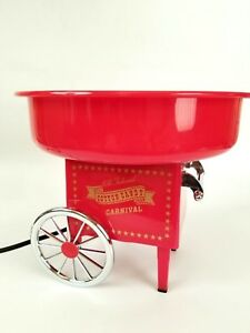 Old Fashioned Cotton Candy Maker At Home Tabletop Red Kids Party Carnival Treats