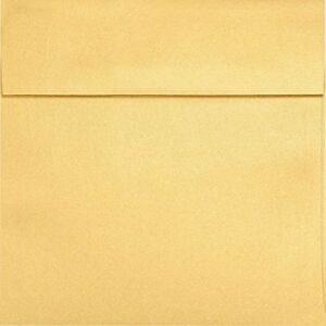 6 1 2 X 6 1 2 Square Envelopes Gold Metallic 50 Qty Perfect For Invitations