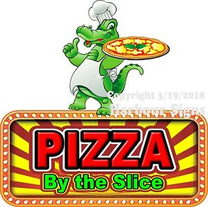Pizza By The Slice Decal choose Your Size Food Truck Concession Vinyl Sticker