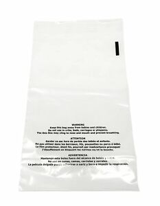 Shop4mailers 14 5 X 19 Suffocation Warning Clear Plastic Self Seal Poly Bags 1 5