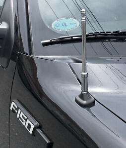 2004 2017 Ford F 150 Chrome Bulldog Billet Aluminum 8 Short Radio Antenna