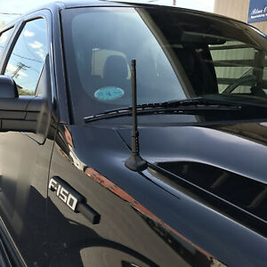 2004 2017 Ford F 150 Black Bulldog Billet Aluminum 8 Short Radio Antenna