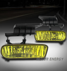 99 02 Chevy Silverado 00 06 Suburban Tahoe Bumper Fog Light Lamp Yellow harness