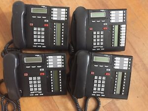 Lot Of 4 Nortel Norstar T7316e Charcoal Office Phones Telephones Cics Mics
