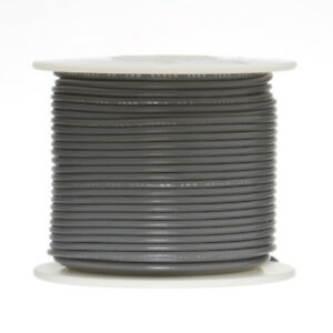 28 Awg Gauge Stranded Hook Up Wire Gray 250 Ft 0 0126 Ptfe 600 Volts