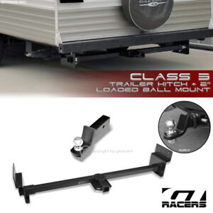 Class 3 Matte Blk Adjustable Rv Trailer Hitch 2 Ball Mount For Up To 72 Frame