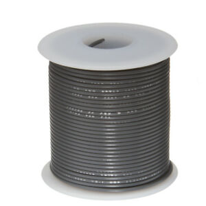 30 Awg Gauge Stranded Hook Up Wire Gray 100 Ft 0 0100 Ptfe 600 Volts