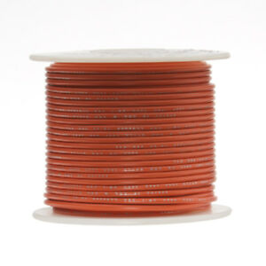 30 Awg Gauge Stranded Hook Up Wire Orange 250 Ft 0 0100 Ptfe 600 Volts