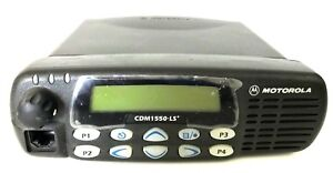 Motorola Cdm1550ls Uhf Mobile Radio 450 512mhz Model Aam25skf9dp5an 25 40 Watt