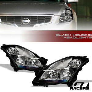 For 2007 2009 Nissan Altima Sedan Black Clear Housing Headlights Signal Lamps Nb