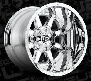 20x14 Fuel D536 6x135 5 5 Et 76 Chrome Wheels set Of 4