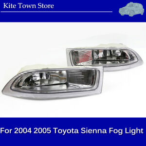 One Pair Left Right Front Fog Driving Lamp Light Us For 2004 2005 Toyota Sienna