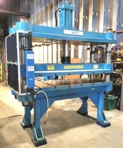 Neff 75 Ton High Speed Hydraulic Trim Press Large Parts Wide Table 10 Stroke