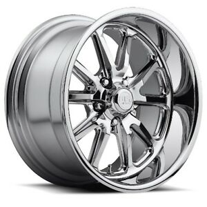 15x8 Us Mag U110 5x4 75 Et01 Chrome Rims set Of 4