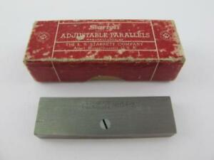 Starrett No 154b Adjustable Parallels Mint In Box Machinist No Owner Marks 2 1 8