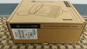 new Polycom Cx600 Ip Voip Office Phone 2200 15987 025