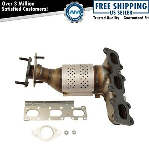Exhaust Manifold With Catalytic Converter Gasket Hardware Lh For Ford Lincoln