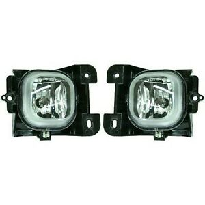 Set Of 2 Clear Lens Fog Light For 2004 05 Ford Ranger Lh Rh Capa W Bulbs