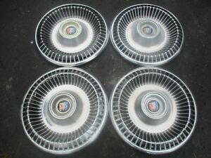 Genuine 1965 Buick Lesabre 15 Inch Hubcaps Wheel Covers Set
