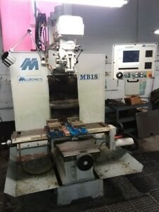 Used Milltronics Mb 18 Cnc Vertical Mill 1999 30 18 18 8000 Rpm Ram Head
