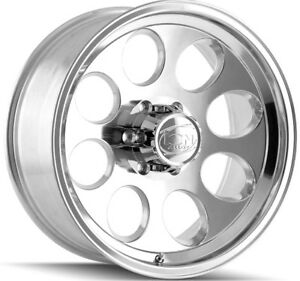 4 new 17 Inch Ion 171 17x9 8x165 1 8x6 5 0mm Polished Wheels Rims