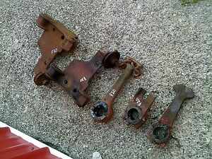 Farmall F20 Tractor Front Mounting Brackets Pulleys Cultivator Brackets