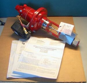 New Badger Meter Hp 30 30 000 Psi Air to close Valve Tlda Positioner Itt Transdu