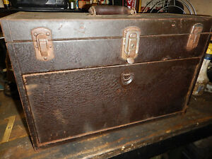 Vintage Kennedy Toolbox Machinist Tool Box Chest Storage With Key
